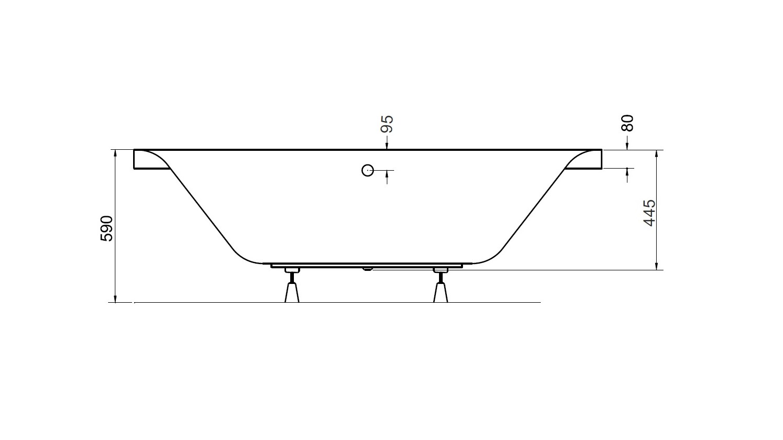 Baignoire GENOVA- baignoire design - mobilier salle de bain design