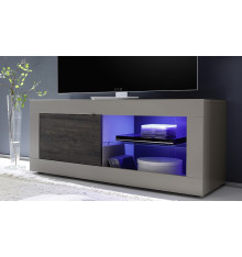 Meuble TV BASIC, 140 cm, taupe/wengé