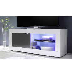 Meuble TV BASIC, 140 cm, blanc/anthracite