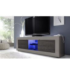 Meuble TV BASIC, 181 cm taupe / wengé