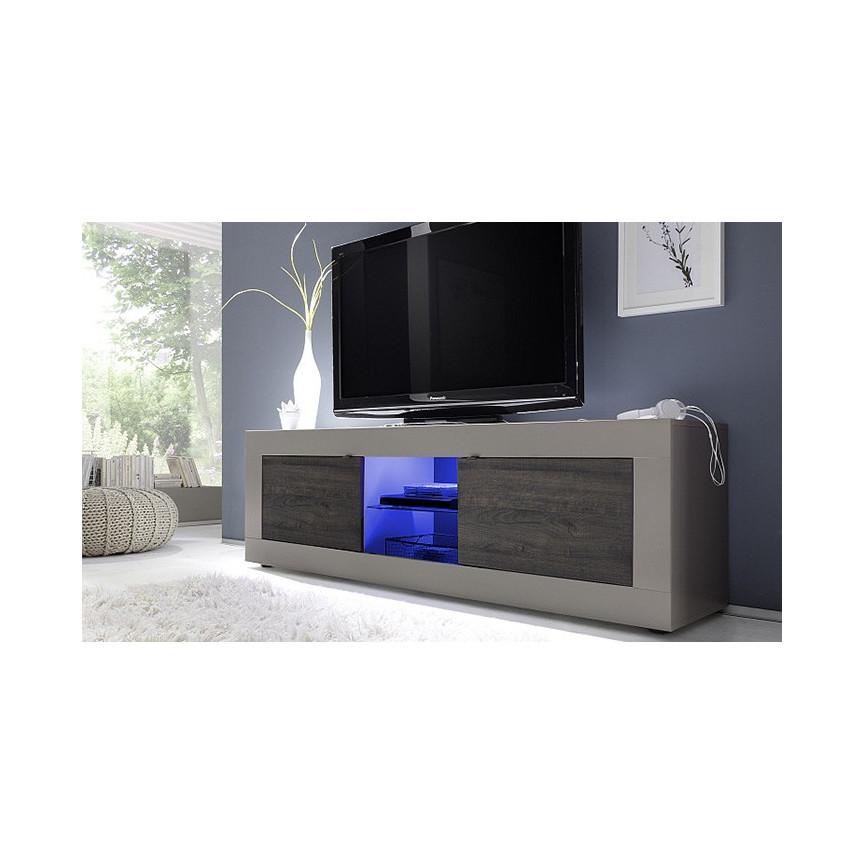 Meuble Tv Basic 181 Cm Taupe Weng  # Meuble Tv Blanc Et Taupe