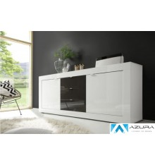 BUFFET  BASIC 210cm BLANC / ANTHRACITE