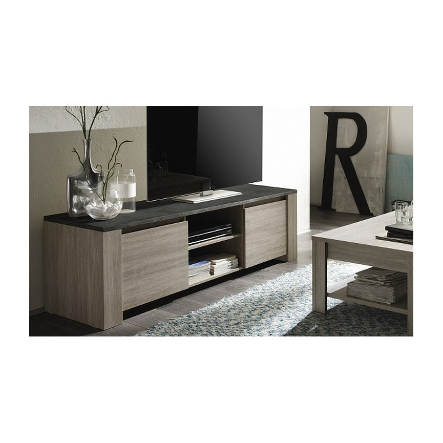 Meuble tv lipari 181cm ch ne gris meuble tv design for Boutique meuble design