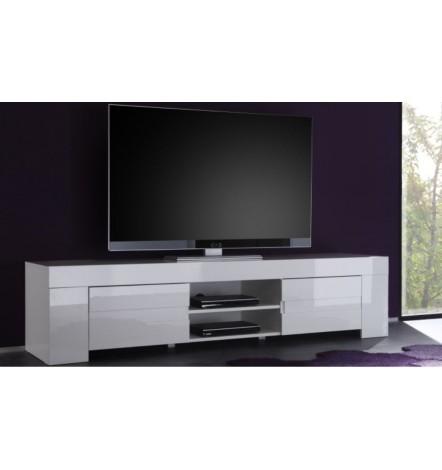 meuble tv zeos 190 cm blanc meuble tv design boutique de meuble desing. Black Bedroom Furniture Sets. Home Design Ideas