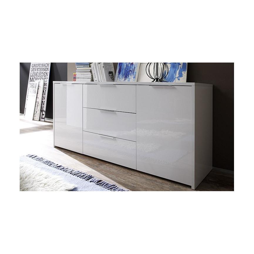 buffet pimonte 160cm blanc. Black Bedroom Furniture Sets. Home Design Ideas