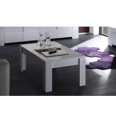 Table basse  ZEOS, 122 cm blanc