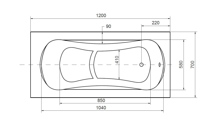 Baignoire sabot VANIA- baignoire design - mobilier salle de bain design