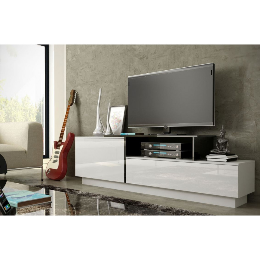 Meuble tv longueur 100 cm conceptions de maison for Meuble tv suspendu 100 cm