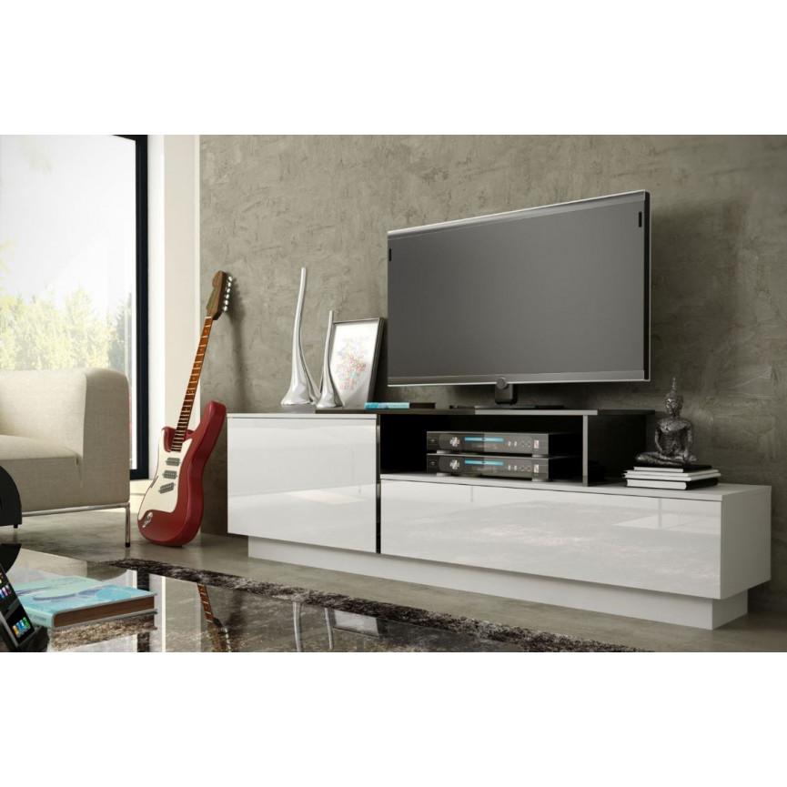 Meuble tv longueur 100 cm conceptions de maison for Meuble tv 100 cm bois