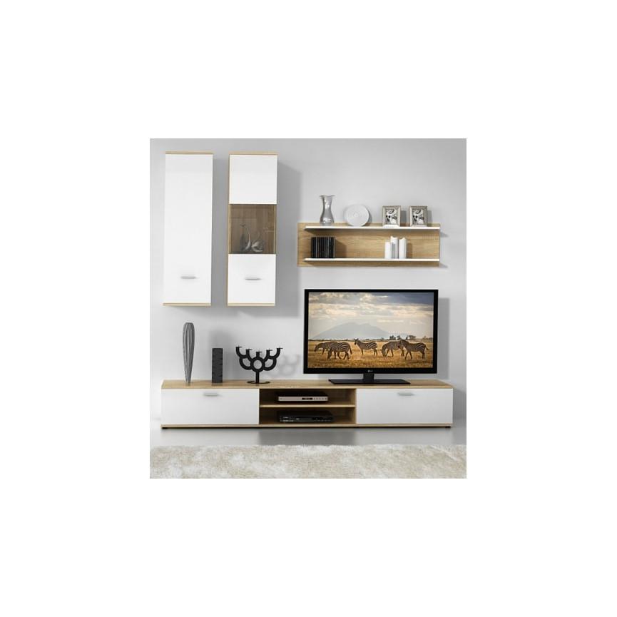 Meuble tv s jour sammlung von design for Nabou meuble tv mural 319x207 cm chene cendre