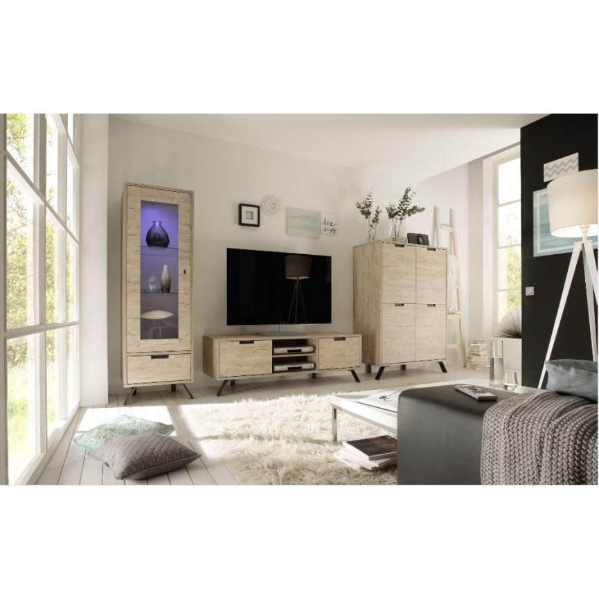 vaisselier vitrine palma 56cm ch ne. Black Bedroom Furniture Sets. Home Design Ideas