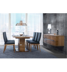 Table extensible TORINO en bois massif 180 à 230cm