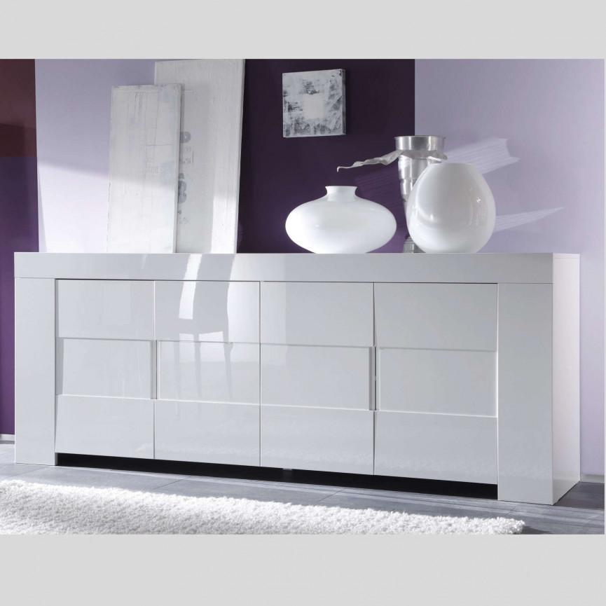 buffet zeos 210 cm blanc buffet design boutique du meuble design. Black Bedroom Furniture Sets. Home Design Ideas