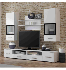Ensemble meuble TV SNOW blanc