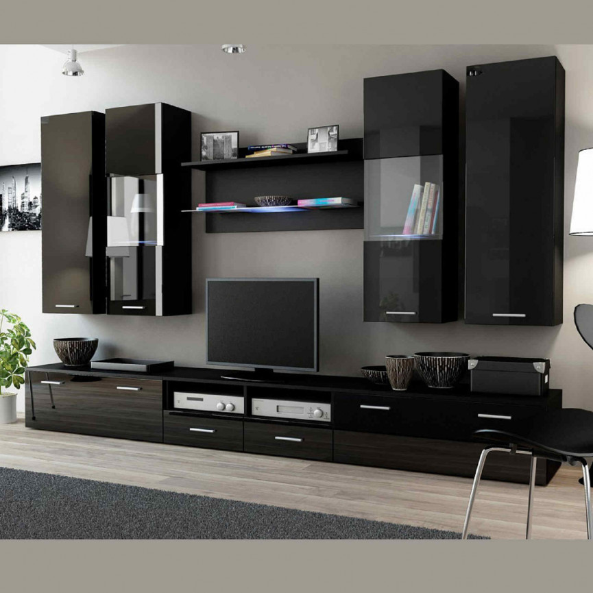 ensemble meuble tv dream ii d coration s jour. Black Bedroom Furniture Sets. Home Design Ideas