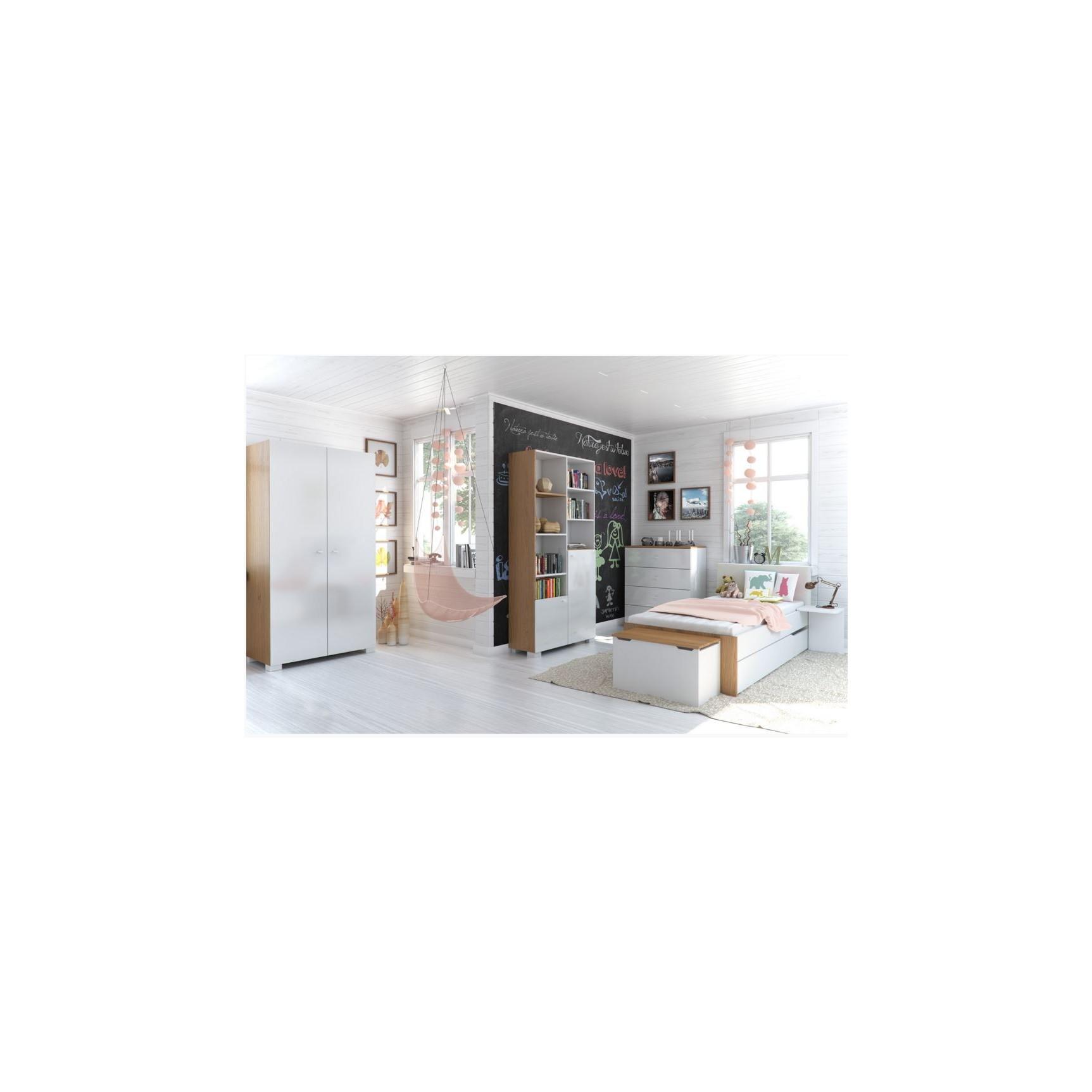 chambre compl te vera blanc et violet chambre compl te chambre. Black Bedroom Furniture Sets. Home Design Ideas