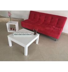 Banquette Clic Clac BUTERA, rouge framboise