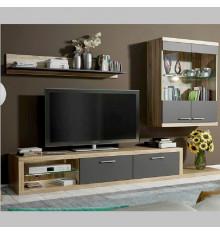 Ensemble meuble TV DOLORES NOIR
