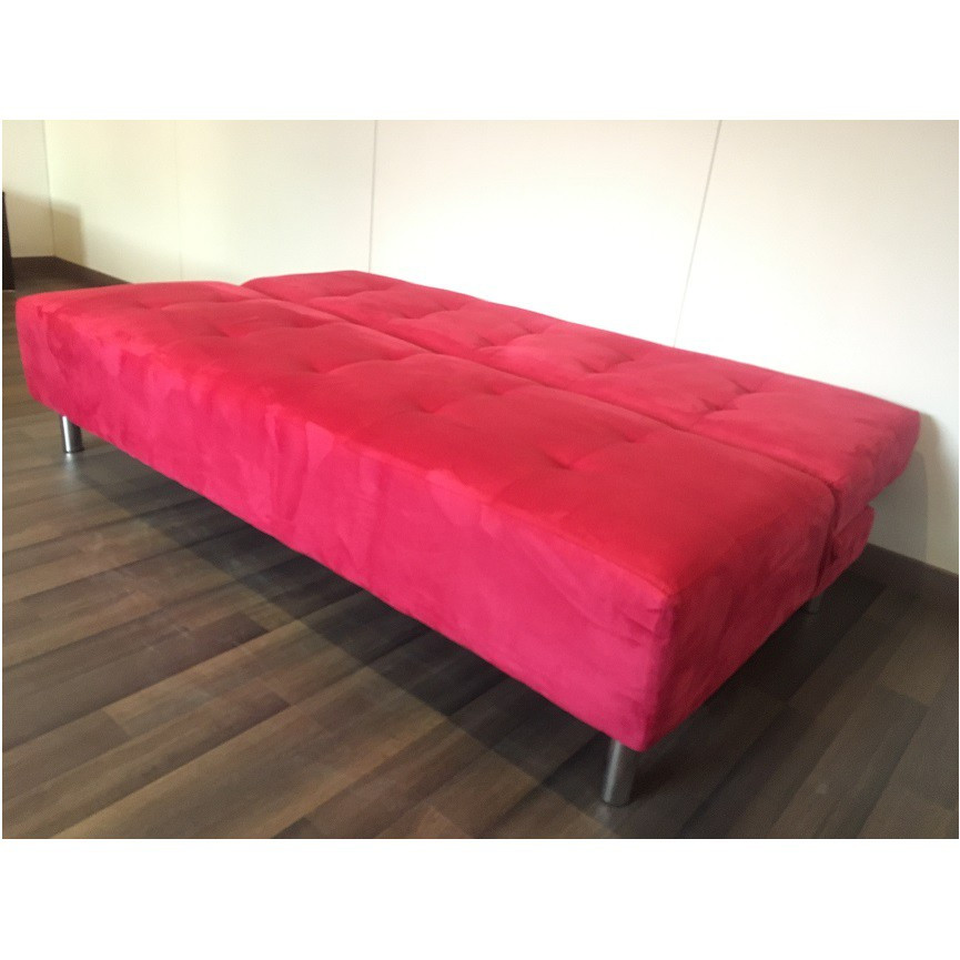 Banquette clic clac butera rouge banquette clic clac for Canape clic clac rouge