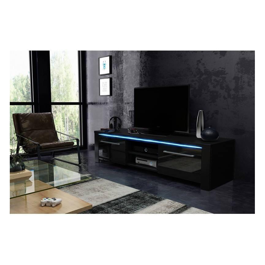 meuble tv riva blanc ou noir s jour