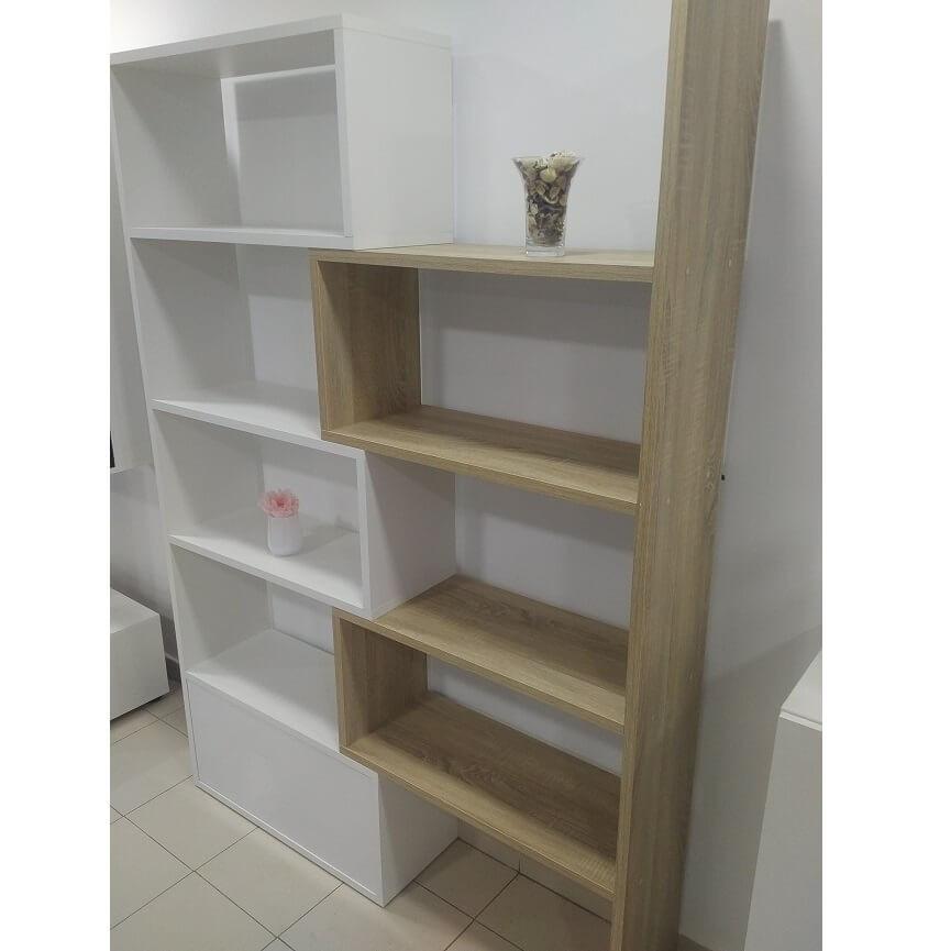 cube box en blanc meuble tv bilioth que design d coration s jour. Black Bedroom Furniture Sets. Home Design Ideas