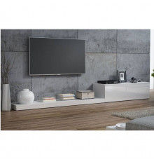 ENSEMBLE MEUBLE TV LIFE II 300CM BLANC