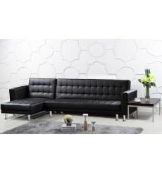 Canapé d'angle SALERNE black