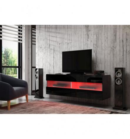 meuble tv rita 100cm s jour meuble tv. Black Bedroom Furniture Sets. Home Design Ideas
