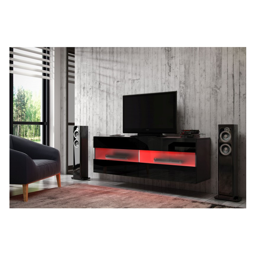 meuble tv rita 100cm s jour meuble tv. Black Bedroom Furniture Sets. Home Design Ideas
