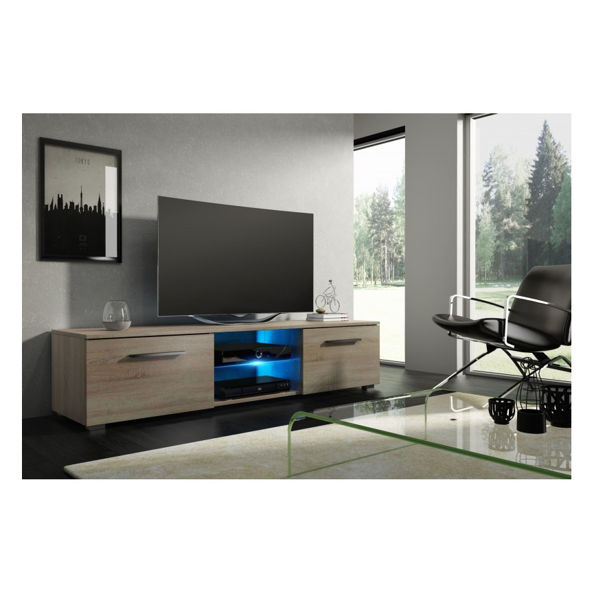 meuble tv alby 140cm meuble tv design boutique de meuble desing. Black Bedroom Furniture Sets. Home Design Ideas