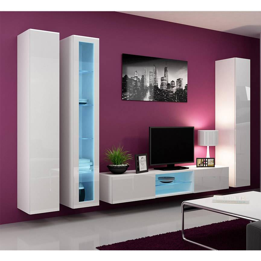 cheap ensemble meuble tv vario cm with meuble tv turc. Black Bedroom Furniture Sets. Home Design Ideas