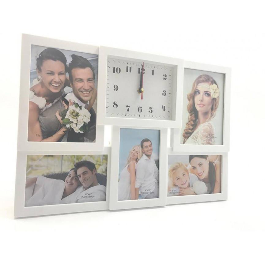 horloge cadre photos 5 vues photos collage. Black Bedroom Furniture Sets. Home Design Ideas