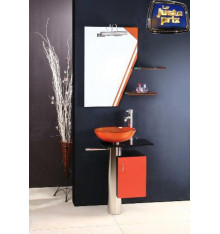 Meuble de salle de bain MANRESA, orange
