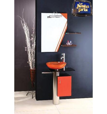 Ensemble de salle de bain MANRESA orange - Meuble Salle de bain une ...