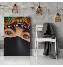 Tableau décoratif Berber woman L 60 x H 100 cm - interieur décoration, art moderne, chambre, mur A412