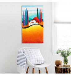 Tableau décoratif Sweet home L 45 x H 100 cm - intérieur design, décoration moderne, art abstrait