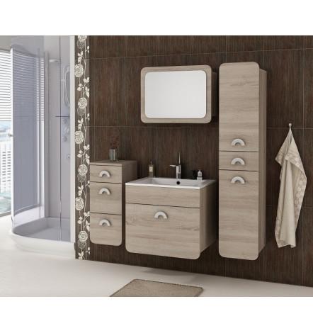 Ensemble RANDO chêne mat salle de bain avec 1 meuble vasque, 1 ...