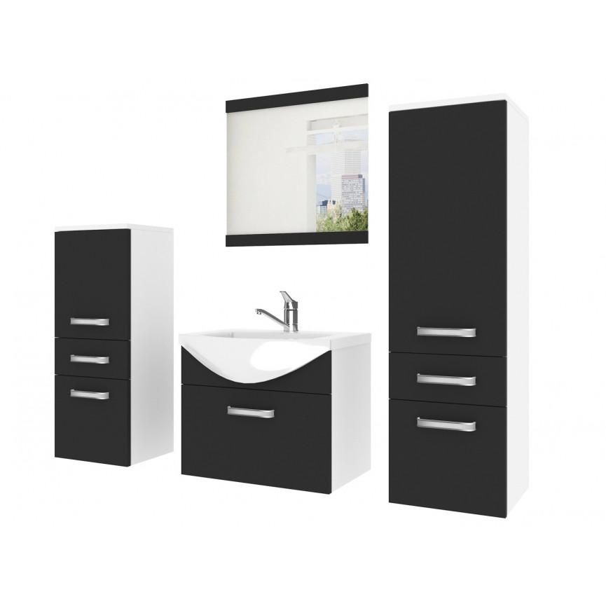 Meuble salle de bain Fine noir et blanc