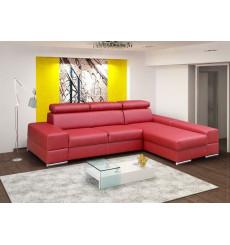 Canapé d'angle convertible JOE rouge 295 x 185 cm