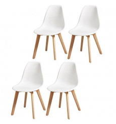 Lot de 4 chaises NORWAY