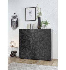 Buffet haut 2 portes LUTHER en anthracite 121x111 cm