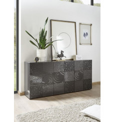 Buffet 3 portes MIREL anthracite