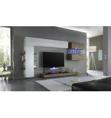 Ensemble meuble tv CESANO miel 342 cm