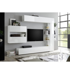 Ensemble meuble TV CELIO blanc 295 cm