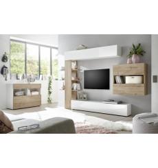 Ensemble meuble TV CELIO chêne 295 cm