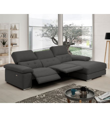 Canapé d'angle et relaxation DEVIA 2 moteurs électriques