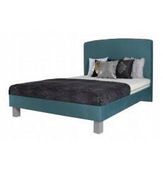 Lit double JUKE avec tête de lit capitonnée 160x200 cm