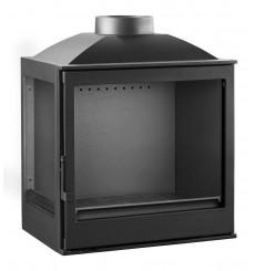 Insert cheminée à bois VILIA déflecteur automatique 15 kW 2 vitres version gauche