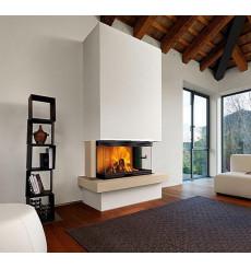 Insert cheminée à bois 3 côtés vitrés BLACO 14,5 kW