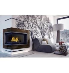 Insert cheminée à bois VALATT 18 kW vitres version gauche